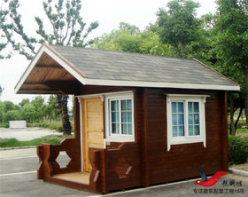 MZ09钢结构防腐木售货亭景区门卫木质岗亭