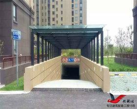 TC016小区商场停车场出入口雨棚停车棚