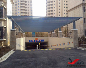 TC015大厦商场停车场出入口雨棚阳光雨棚