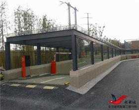 TC014地铁小区停车场出入口雨棚车棚