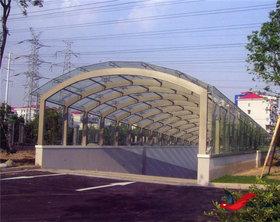 TC007停车场出入口雨棚膜结构停车棚