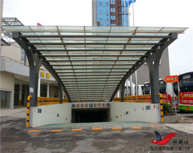 TC005钢结构出入口雨棚停车场雨棚