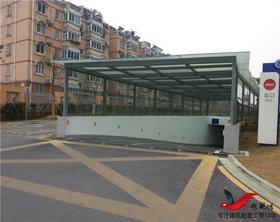 TC004小区停车厂雨棚停车场出入口雨棚