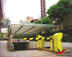 TC002大厦地铁出口停车场出入口雨棚膜结构车棚